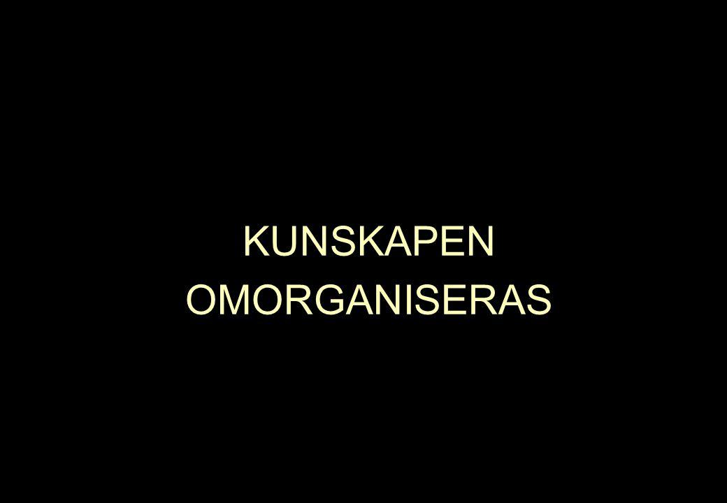 KUNSKAPEN OMORGANISERAS