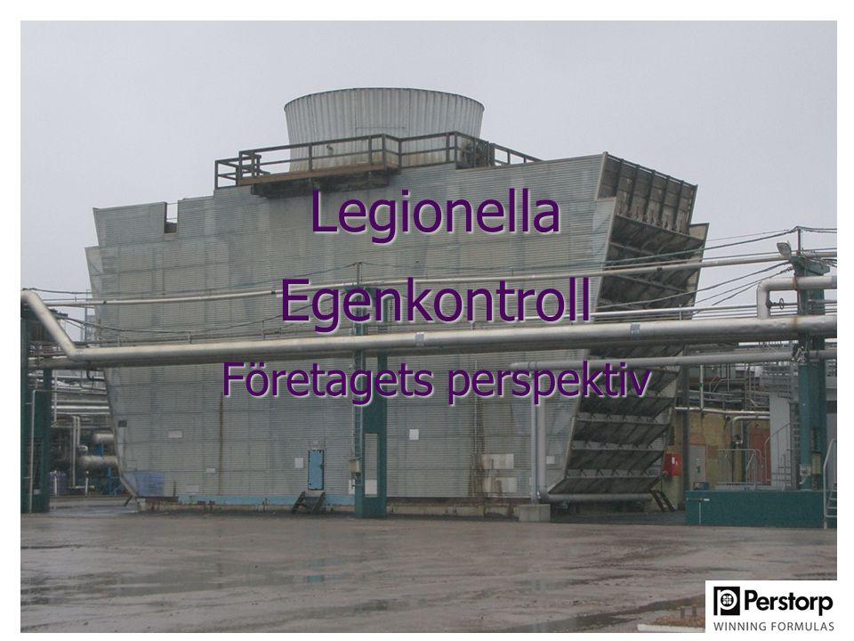 Legionella Egenkontroll Företagets perspektiv
