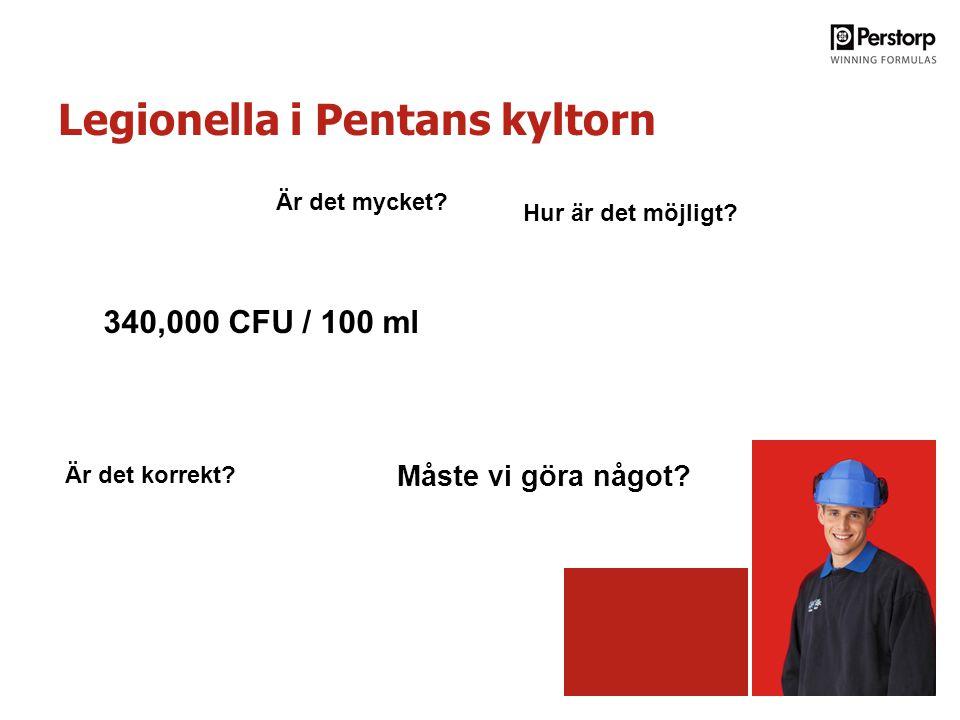 Legionella i Pentans kyltorn Hur är det möjligt. Är det korrekt.