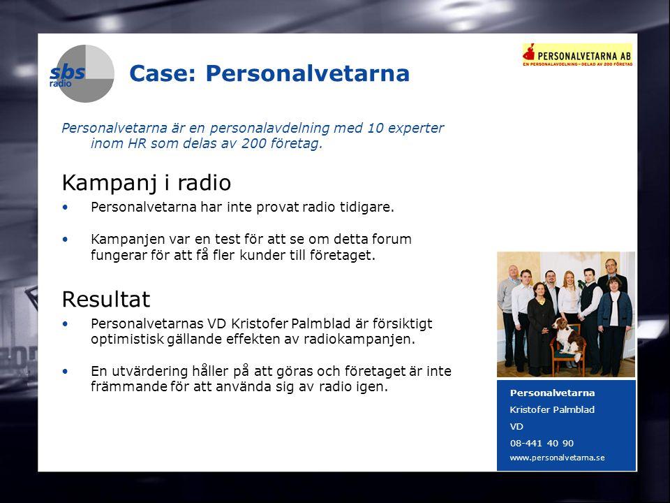 DENMARK SWEDEN FINLAND NORWAY 16 Case: Personalvetarna Personalvetarna är en personalavdelning med 10 experter inom HR som delas av 200 företag. Kampa