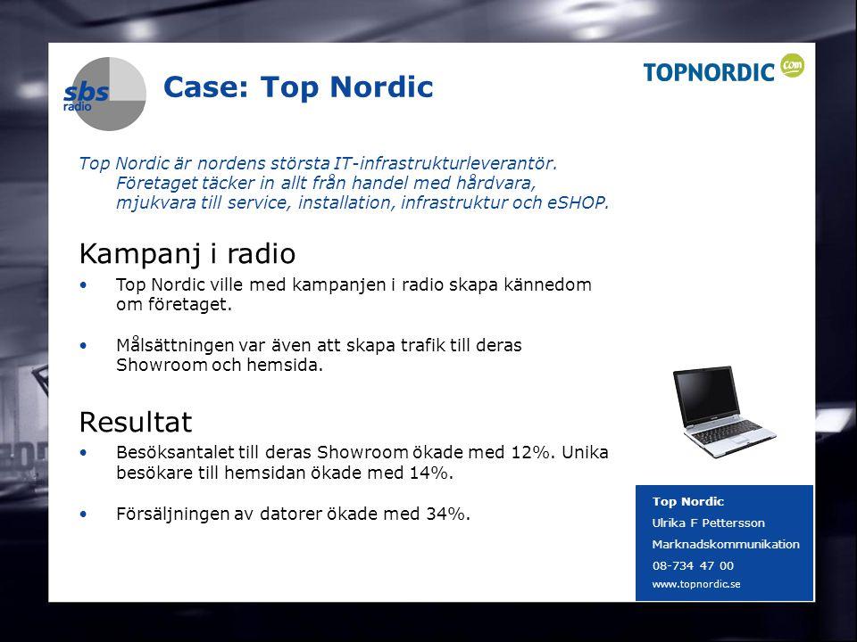 DENMARK SWEDEN FINLAND NORWAY 17 Case: Top Nordic Top Nordic är nordens största IT-infrastrukturleverantör. Företaget täcker in allt från handel med h