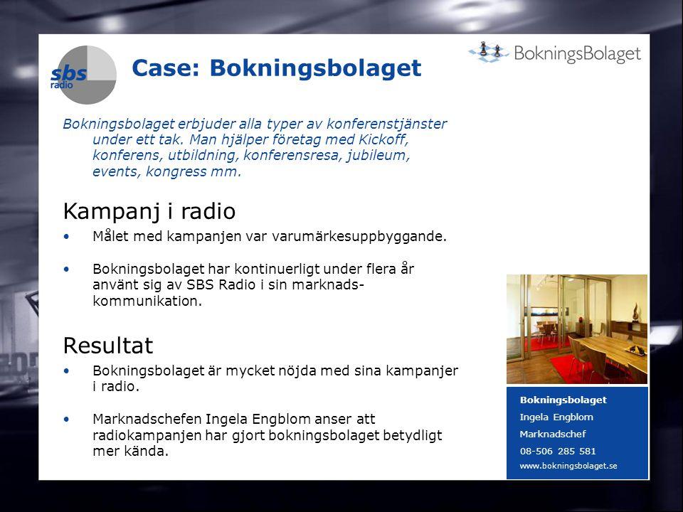 DENMARK SWEDEN FINLAND NORWAY 18 Case: Bokningsbolaget Bokningsbolaget erbjuder alla typer av konferenstjänster under ett tak. Man hjälper företag med