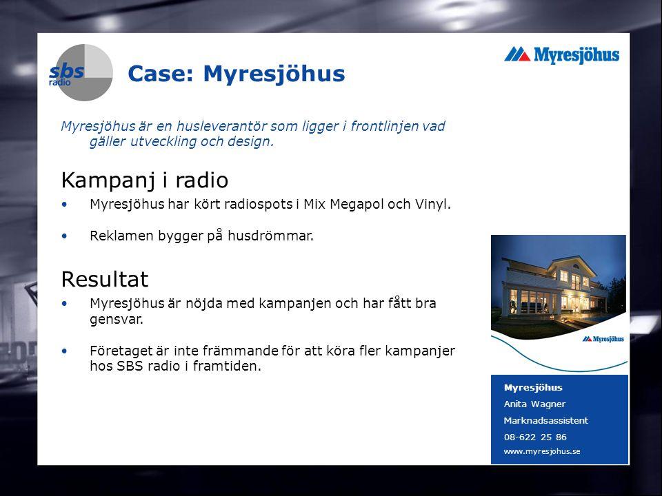 DENMARK SWEDEN FINLAND NORWAY 21 Case: Myresjöhus Myresjöhus är en husleverantör som ligger i frontlinjen vad gäller utveckling och design. Kampanj i