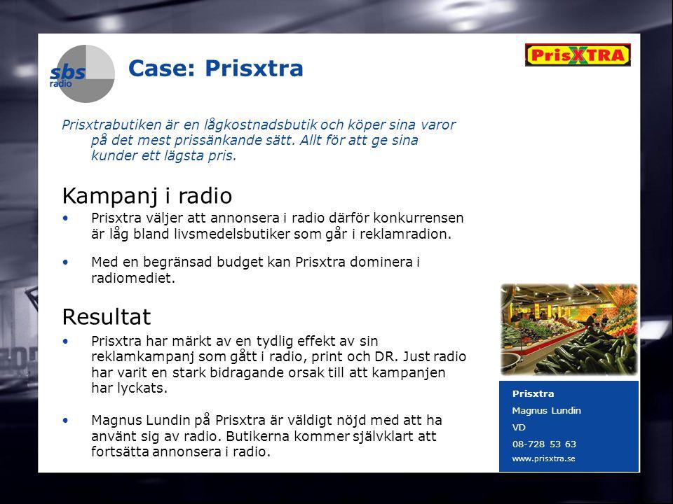 DENMARK SWEDEN FINLAND NORWAY 3 Case: Prisxtra Prisxtrabutiken är en lågkostnadsbutik och köper sina varor på det mest prissänkande sätt. Allt för att
