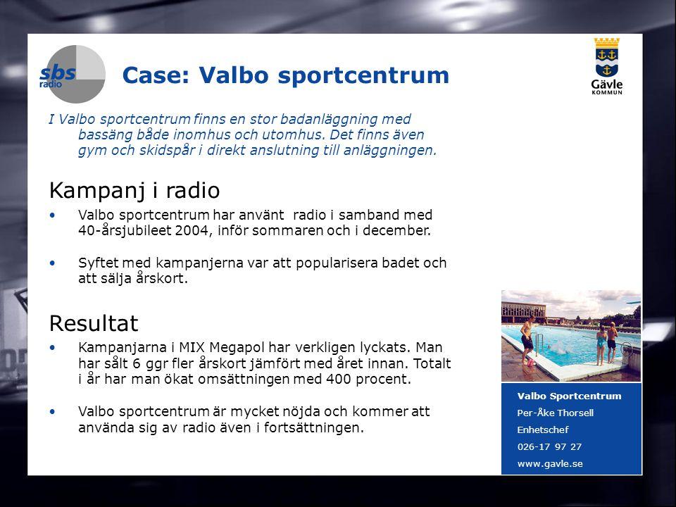 DENMARK SWEDEN FINLAND NORWAY 9 Case: Valbo sportcentrum I Valbo sportcentrum finns en stor badanläggning med bassäng både inomhus och utomhus. Det fi