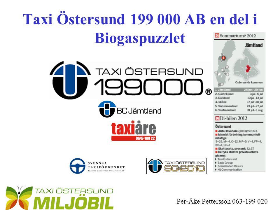 Per-Åke Pettersson 063-199 020 Taxi Östersund 199 000 AB en del i Biogaspuzzlet