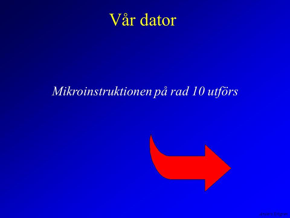 Anders Sjögren Vår dator Mikroinstruktionen på rad 10 utförs