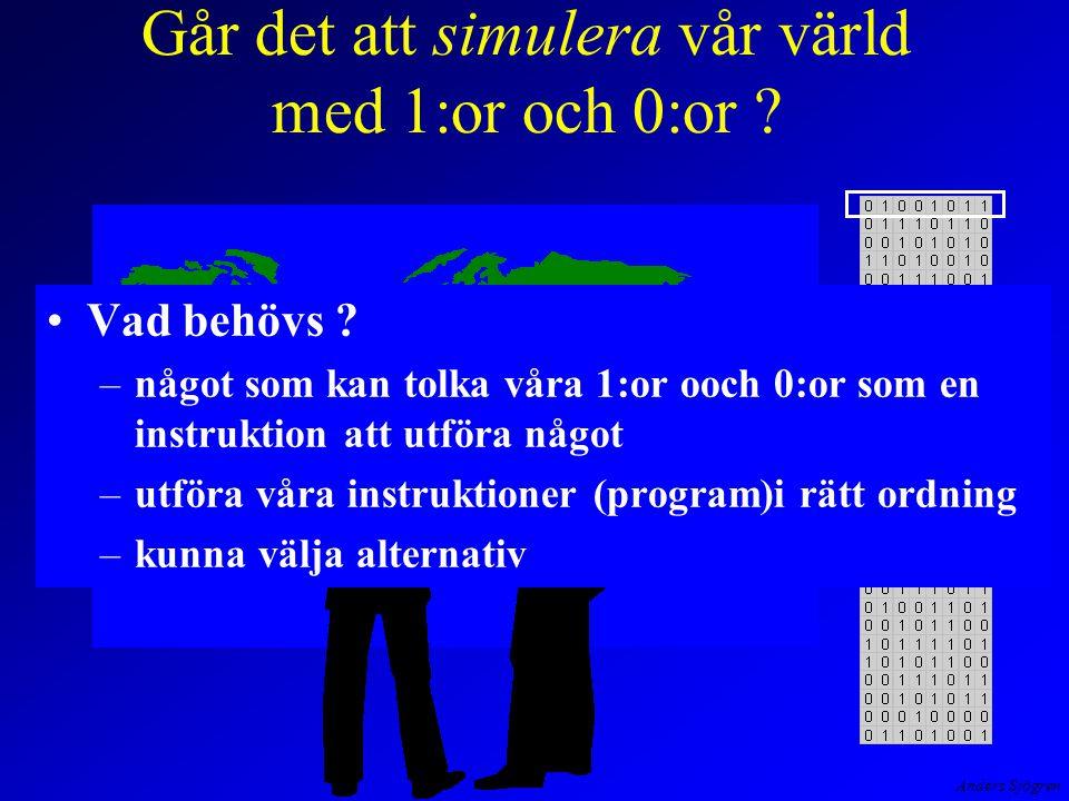 Anders Sjögren Vår dator exekveringsfasen för LDA är klar och mikroprogrammet återgår till hämtfasen för att läsa in maskinkoden för STA .