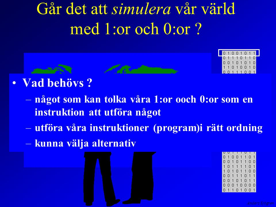 Anders Sjögren Databuss 1918 19 17 16 15 13 12 11 10 98 7 6 5 4 3 2 1 14 +1 lässkriv add sub nollst OP' IR Adressbuss PR=0 AR OPA K  PR=0 UT IN 1 7 Klocka Primärminne Mikrominne +2