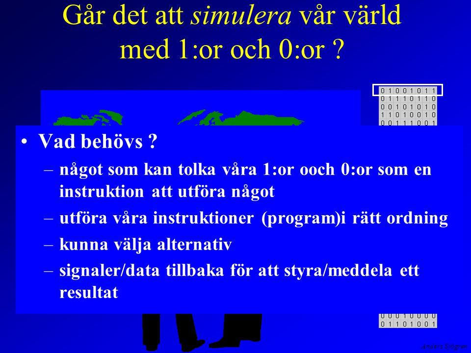Anders Sjögren Vår dator Mikroinstruktionen på rad 6 utförs, hämtfasen (fetch) är slut och LDA skall exekveras