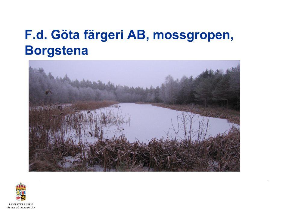 F.d. Göta färgeri AB, mossgropen, Borgstena