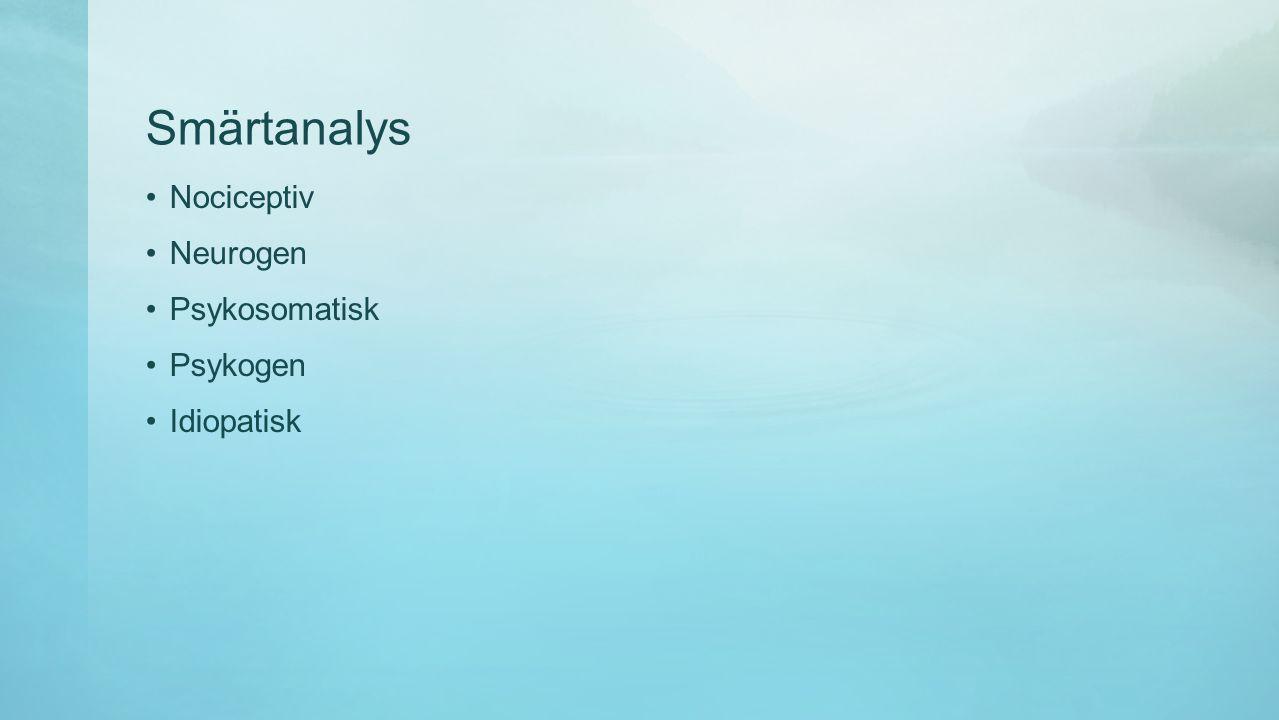 Smärtanalys Ev komplettering med radiologi och QST