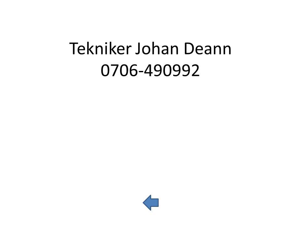 Tekniker Reinar Eriksson 0706-000908