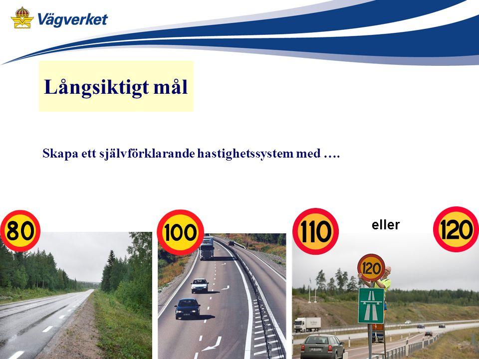 2008 nationella vägar – Europavägar o några riksvägar 2009 statliga vägar och genomfarter riksvägar (vägnr<100) 2011 återstående länsstyrelse o kommunala beslut ev.