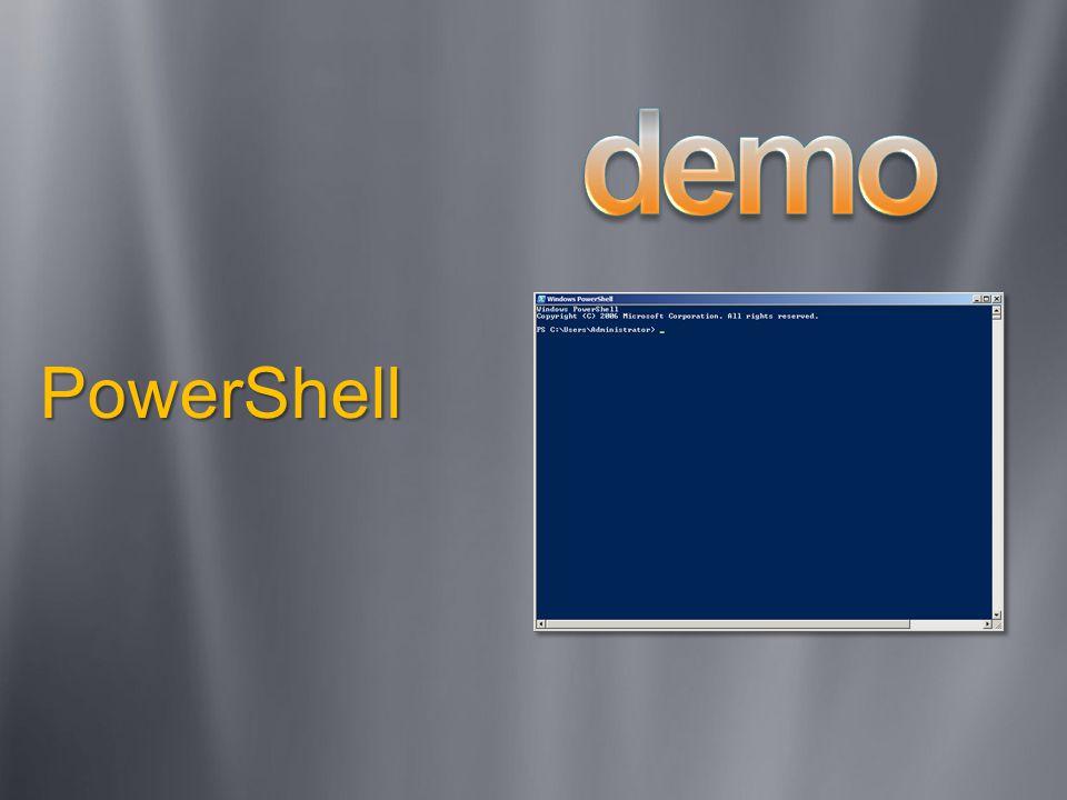 Windows Server Core Bara ett subset av exekverbara filer och DLLs installerade Inget GUI installerat Fem tillgängliga server roller Kan hanteras med remote verktyg