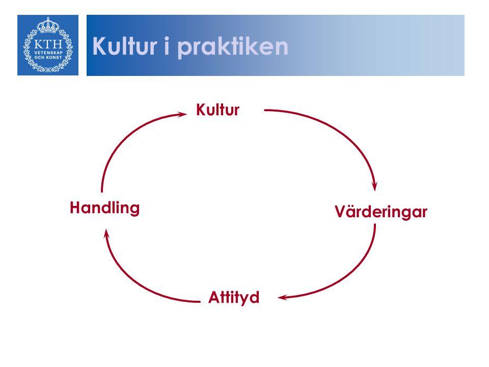 Kultur Värderingar Attityd Handling Kultur i praktiken