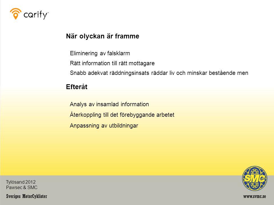 Insamlad Information Position Tidpunkt Hastighet Rörelser i x-, y- och z-led Lab Hjärtfrekvens Blodtryck Anding Tylösand 2012 Pawsec & SMC