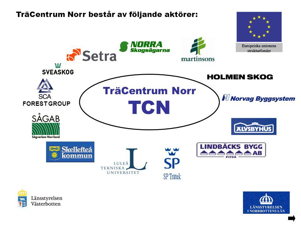 FOREST GROUP TräCentrum Norr består av följande aktörer: TräCentrum Norr TCN