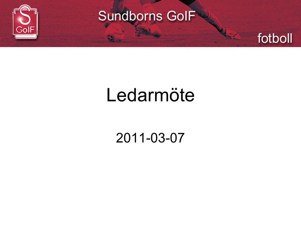 Ledarmöte 2011-03-07