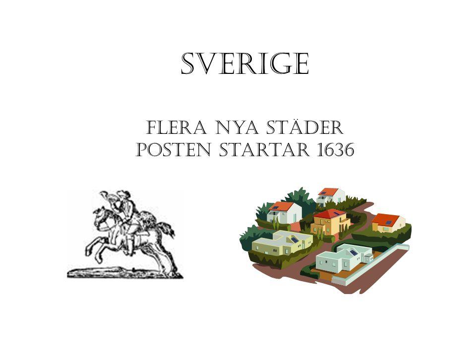 Sverige flera nya städer posten startar 1636