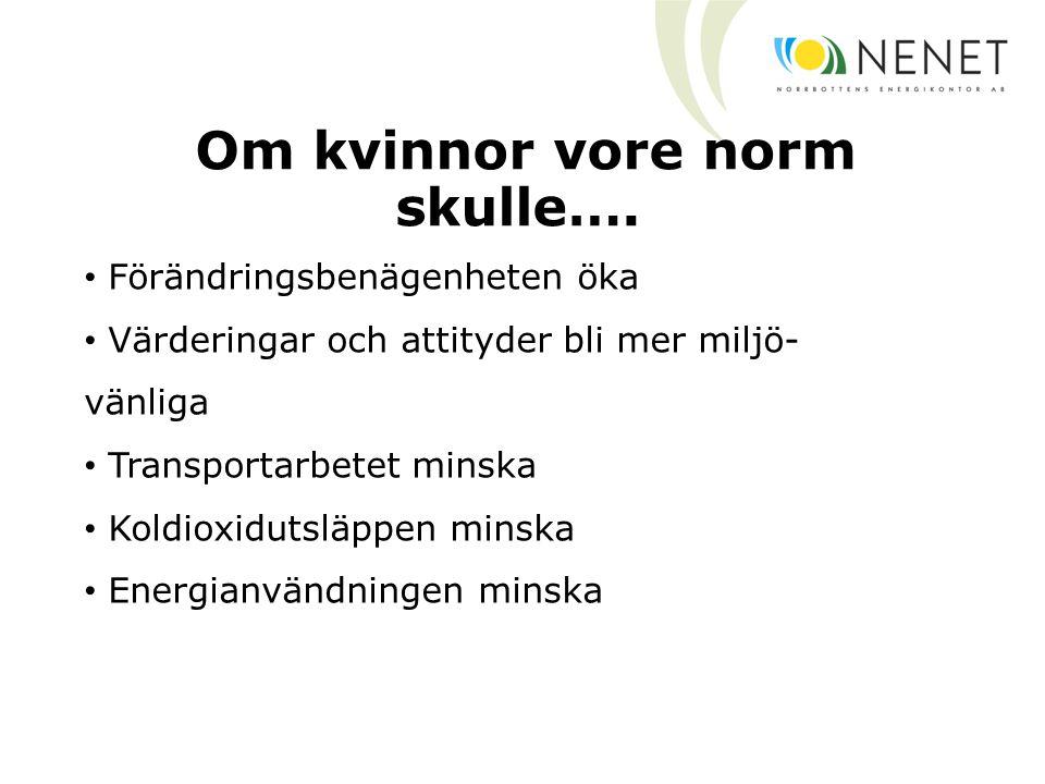 Om kvinnor vore norm skulle….