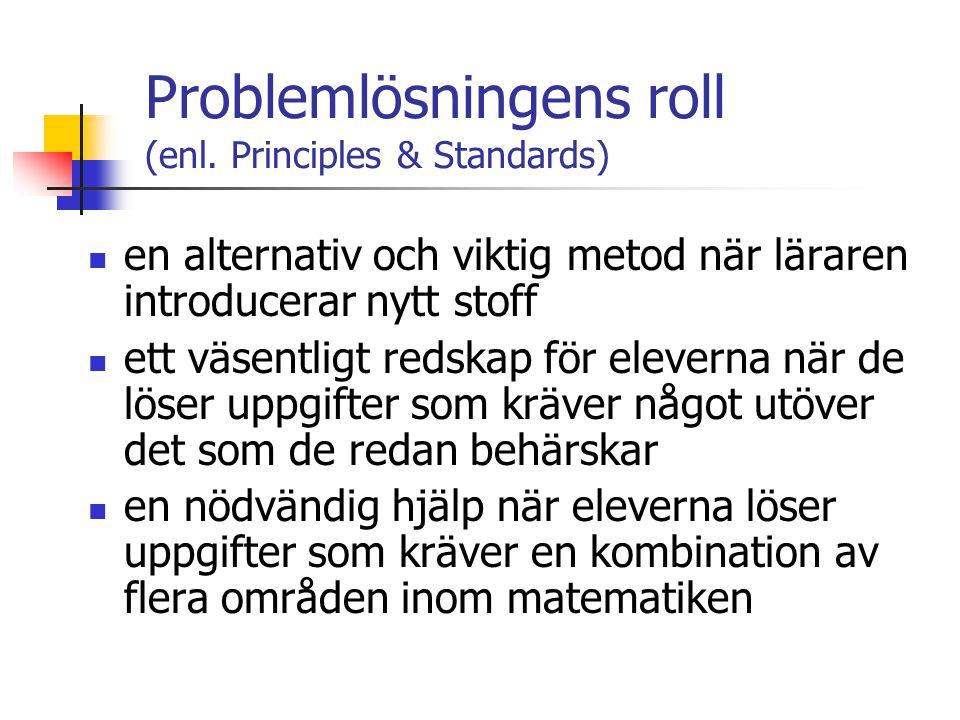 Problemlösningens roll (enl.