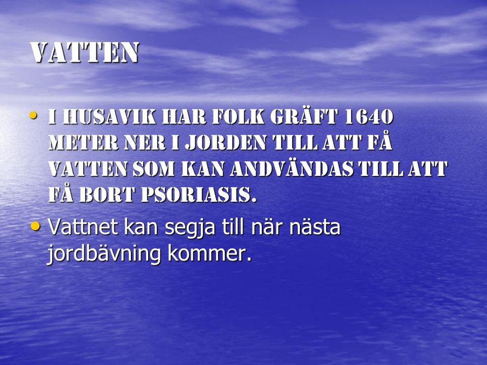 Vatten Islänska vattnet är inte det renaste vattnet i världen, det är det 17:onde renaste.