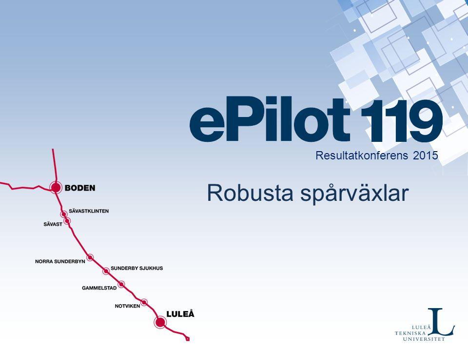 Spårväxlar Ca 12 000 st i Sverige 150 olika modeller Mest underhållskrävande Högst på 10-i-topp listan för driftstörningar Flest besiktningsanmärkningar Klimatkänsliga Regelstyrt.