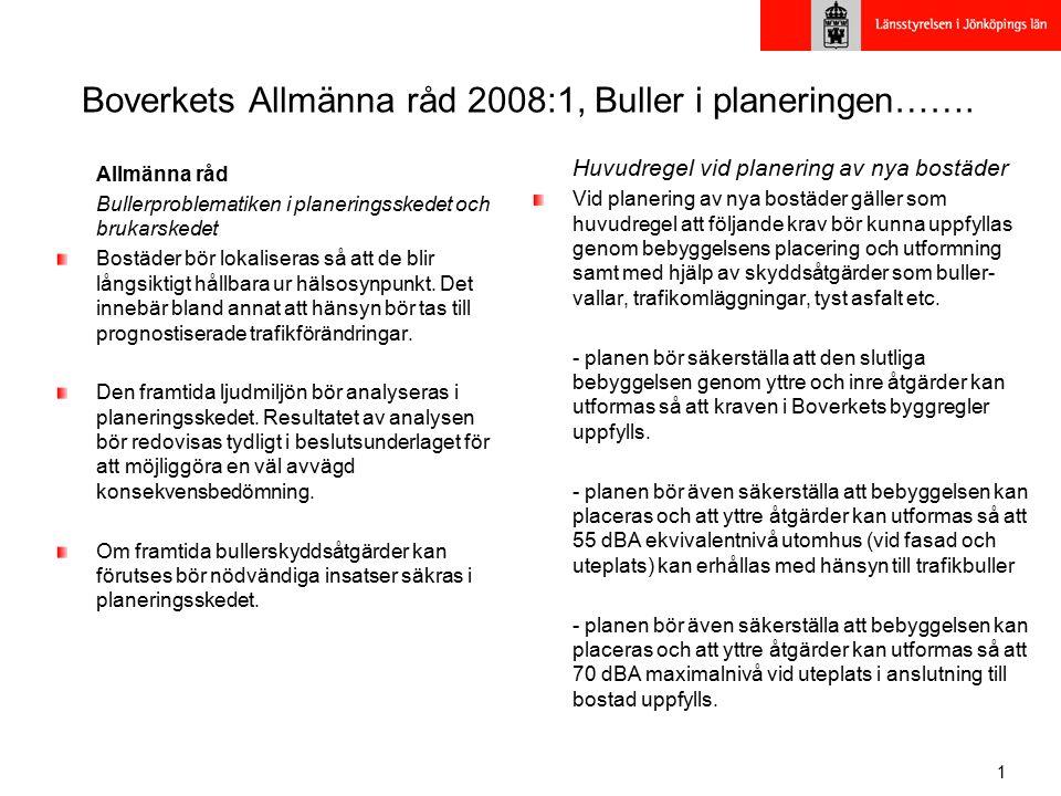 1 Boverkets Allmänna råd 2008:1, Buller i planeringen…….