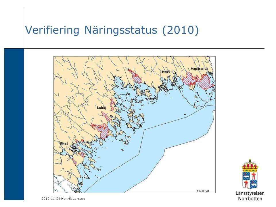 2010-11-24 Henrik Larsson Verifiering Näringsstatus (2010)