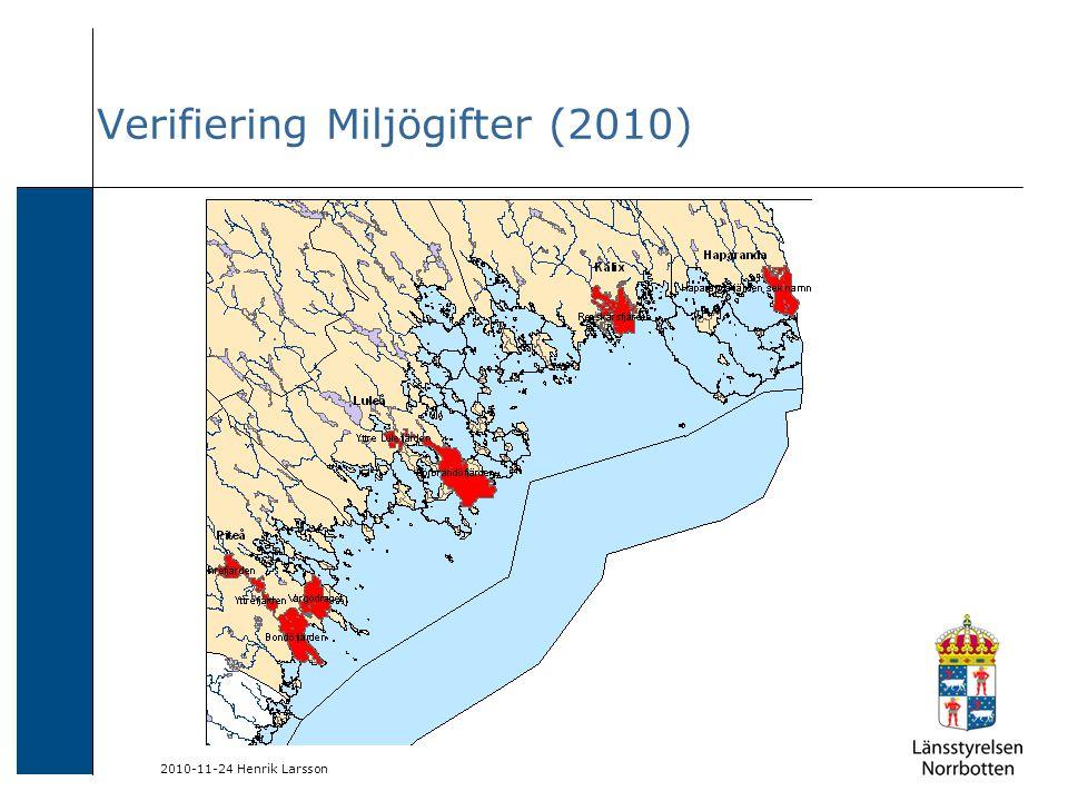 2010-11-24 Henrik Larsson Verifiering Miljögifter (2010)