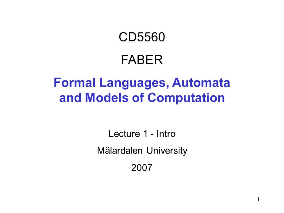 12 1900 Hilberts program 1880 -1936 first programming languages 1931 Gödels incompleteness theorem 1936 Turing maschine (showed to be equivalent with recursive functions).