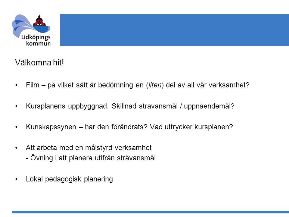 Kursplanens uppbyggnad 1.Ämnets syfte och roll i utbildningen 2.Strävansmål 3.Ämnets karaktär och uppbyggnad 4.Uppnåendemål 5.Bedömningens inriktning med betygskriterier