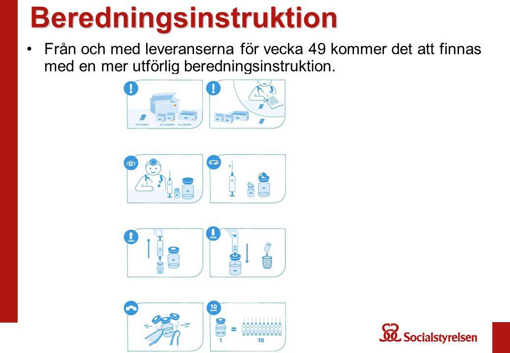 Beredningsinstruktion Från och med leveranserna för vecka 49 kommer det att finnas med en mer utförlig beredningsinstruktion.