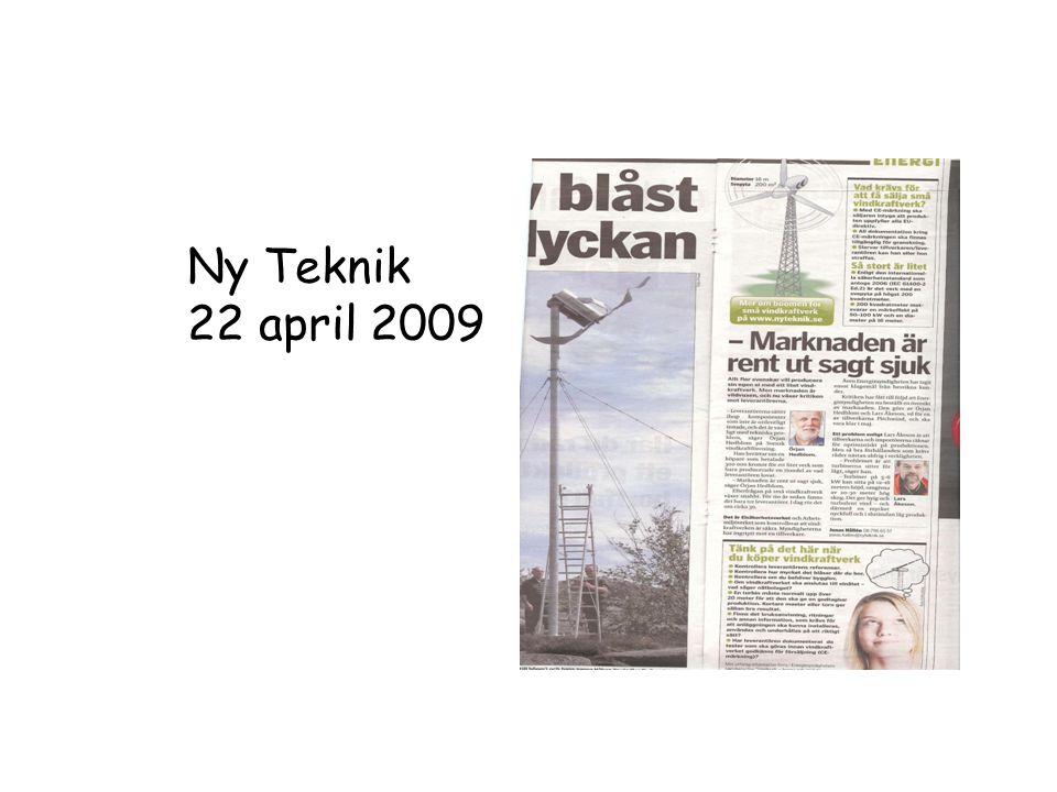 Ny Teknik 22 april 2009