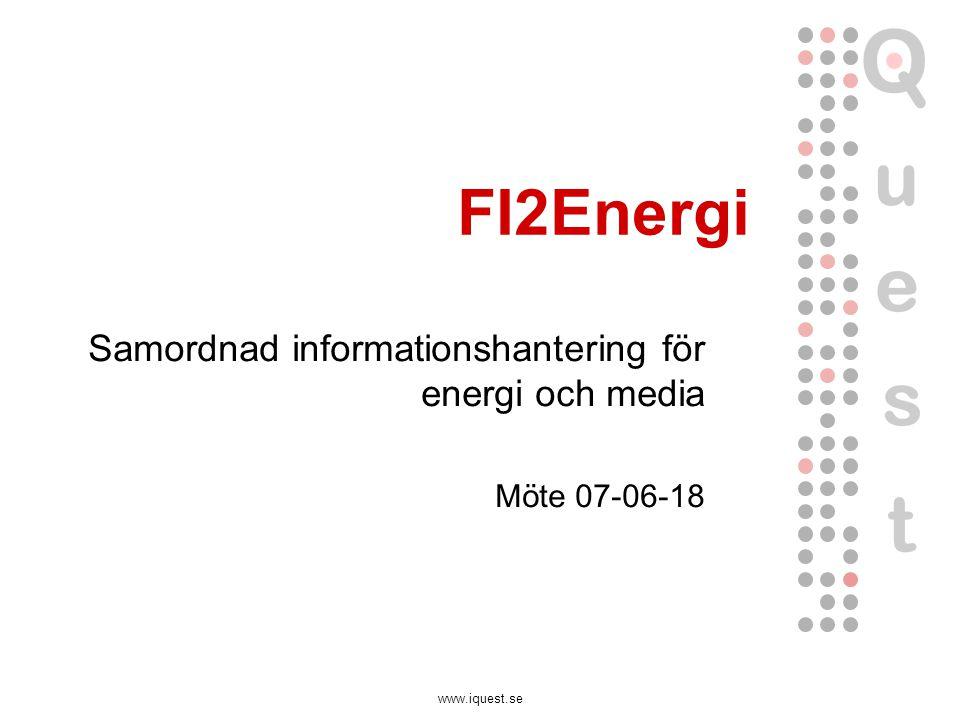 www.iquest.se FI2Energi Samordnad informationshantering för energi och media Möte 07-06-18