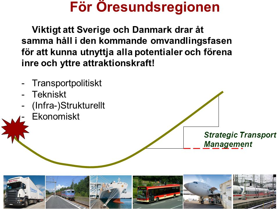 För Öresundsregionen Viktigt att Sverige och Danmark drar åt samma håll i den kommande omvandlingsfasen för att kunna utnyttja alla potentialer och förena inre och yttre attraktionskraft.