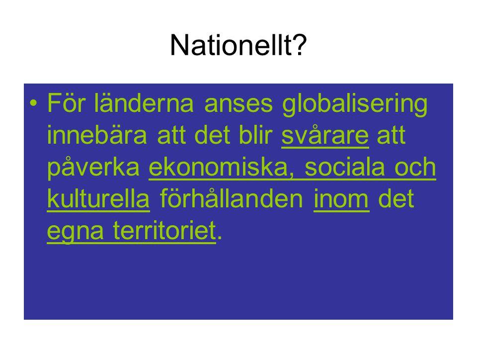 Nationellt.