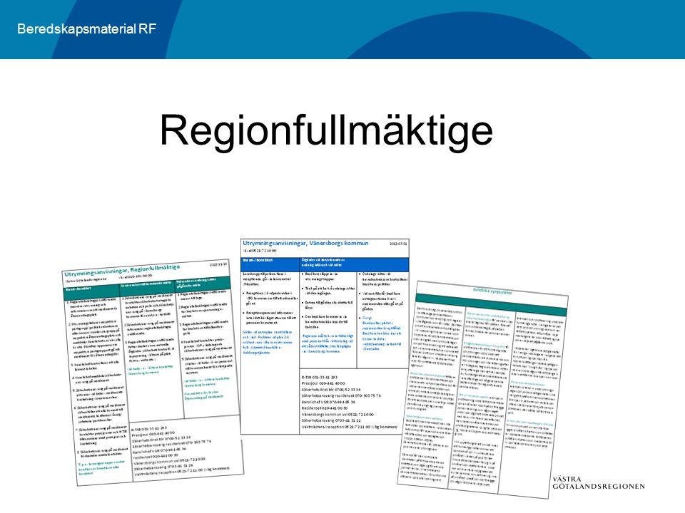 Beredskapsmaterial RF Regionfullmäktige