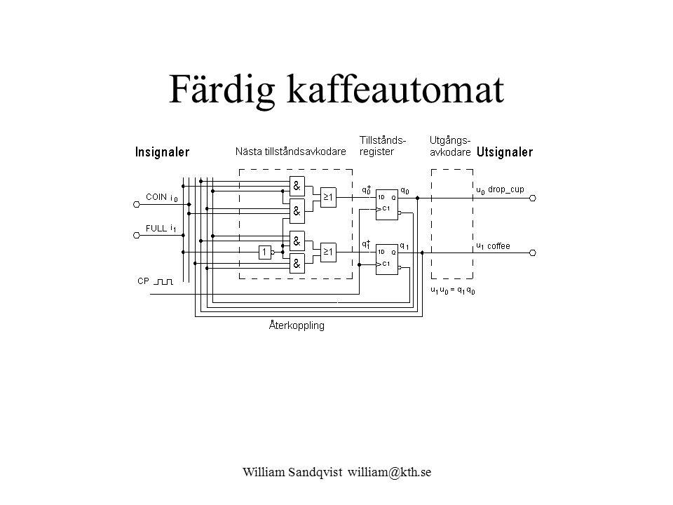 William Sandqvist william@kth.se Färdig kaffeautomat