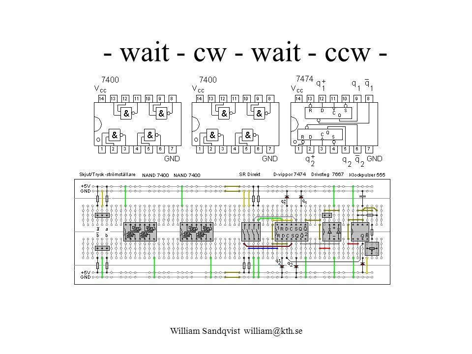 William Sandqvist william@kth.se - wait - cw - wait - ccw -