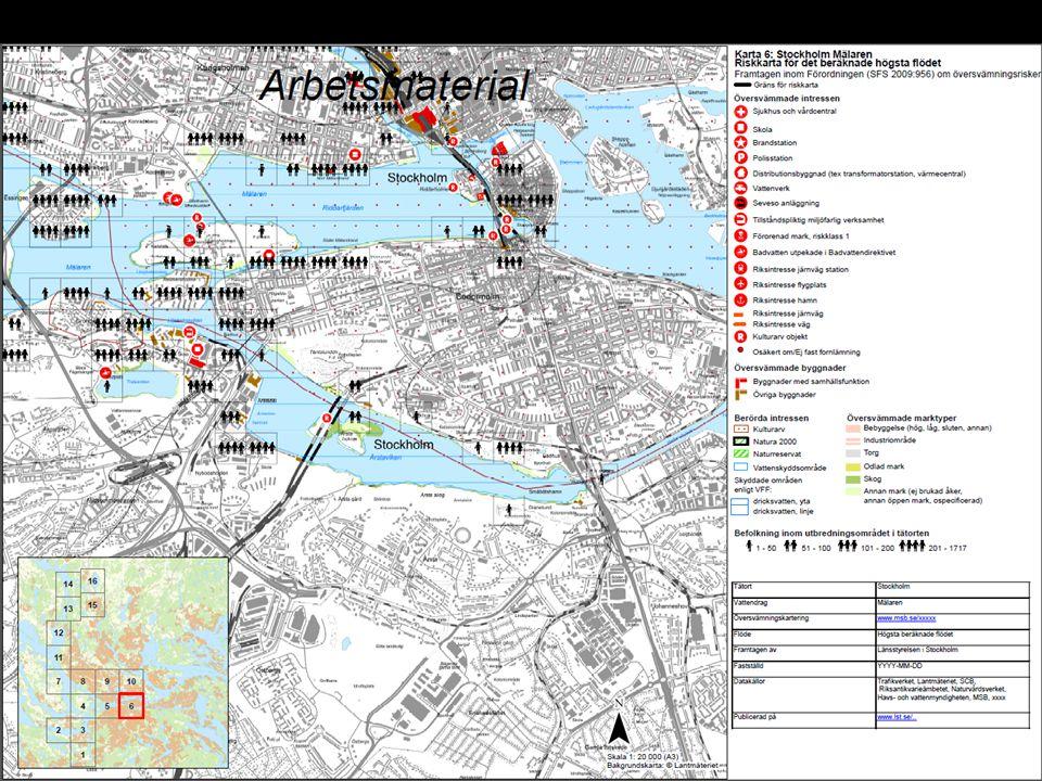 Återstående frågetecken  Egna data – tunnelbanestationer, förorenade områden  Broar – ska de visas som översvämmade eller inte.