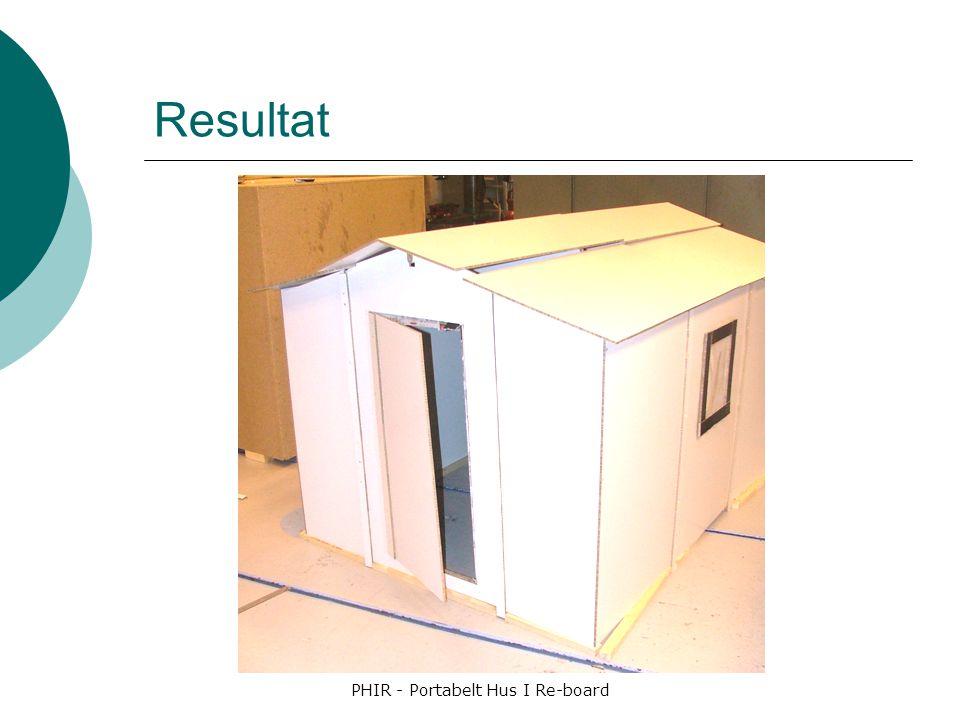 PHIR - Portabelt Hus I Re-board Resultat