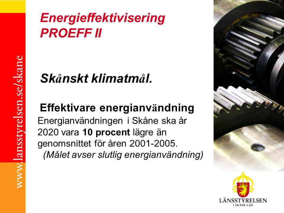 Energieffektivisering PROEFF II Sk å nskt klimatm å l.