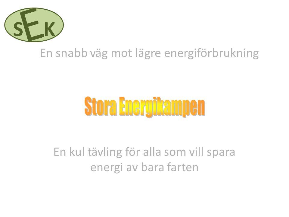 En kul tävling för alla som vill spara energi av bara farten E SK En snabb väg mot lägre energiförbrukning