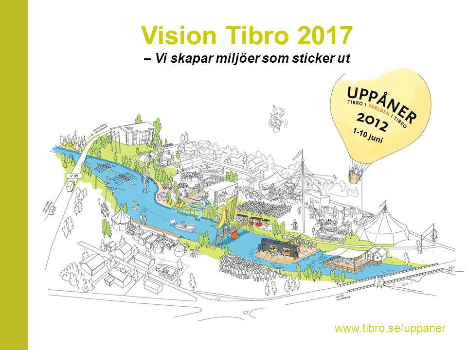 Vision Tibro 2017 – Vi skapar miljöer som sticker ut 1-10 juni www.tibro.se/uppaner