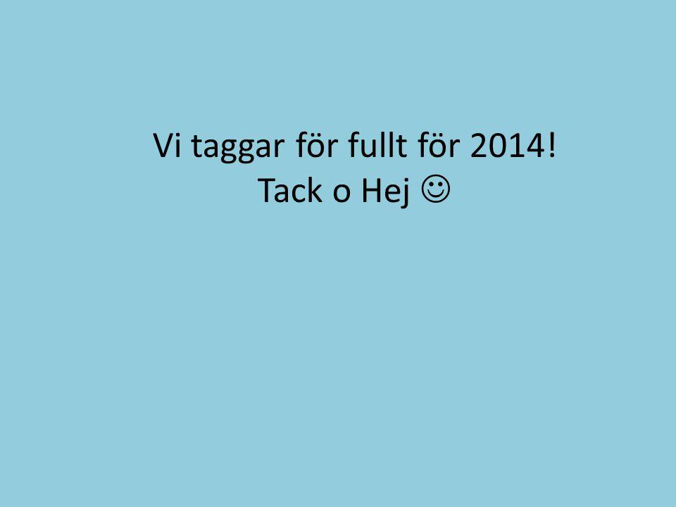 Vi taggar för fullt för 2014! Tack o Hej