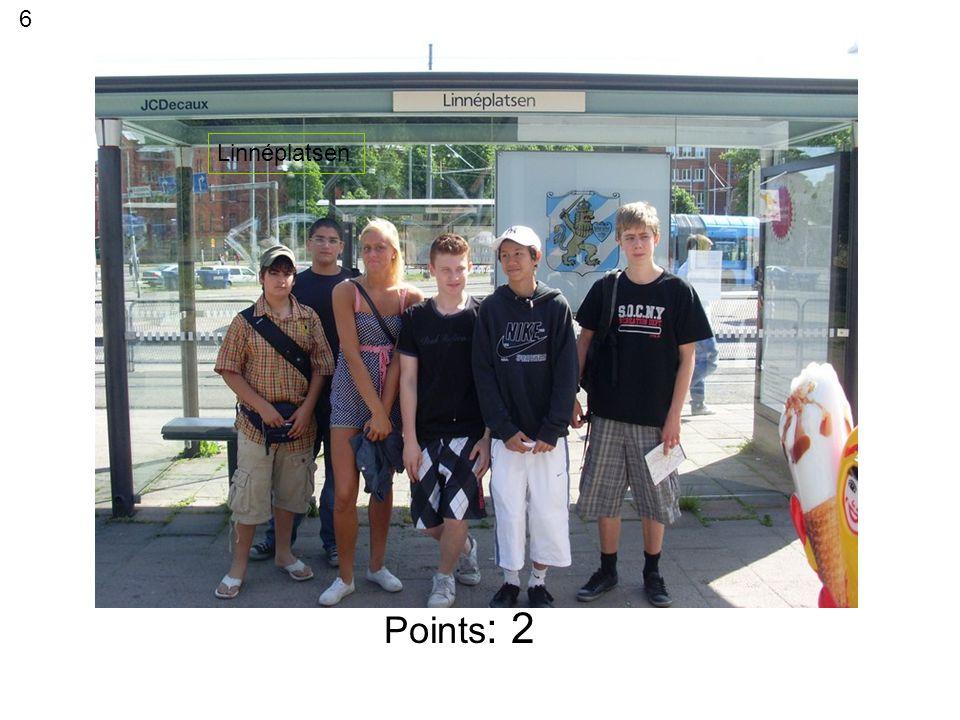 Points: 1 GUSTAV ADOLFS TORG 16