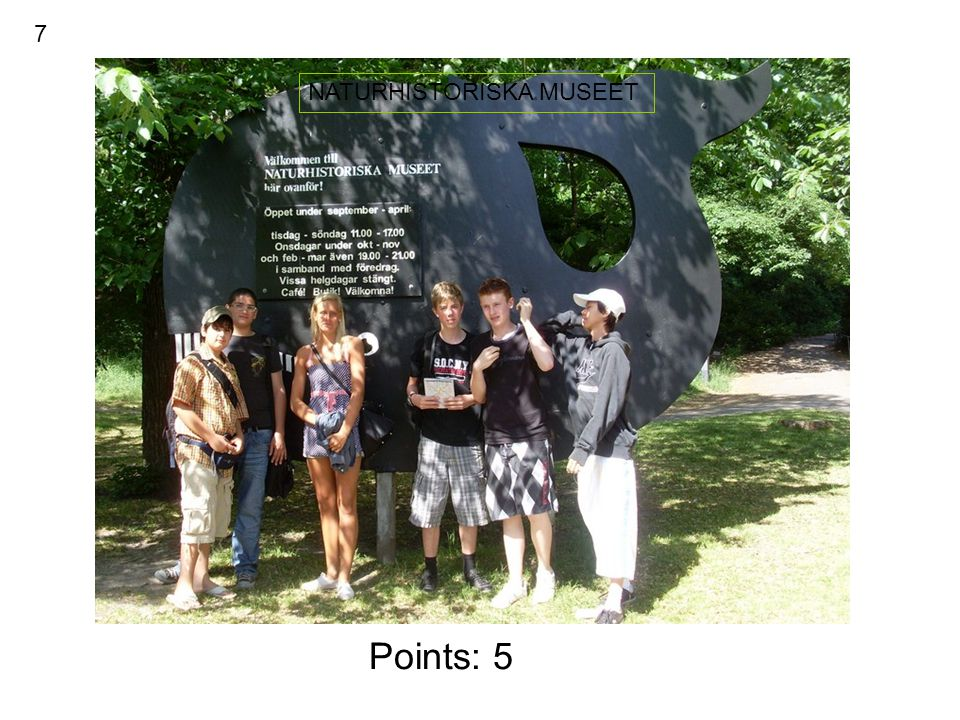 Points : 5 SKANSEN KRONAN 8