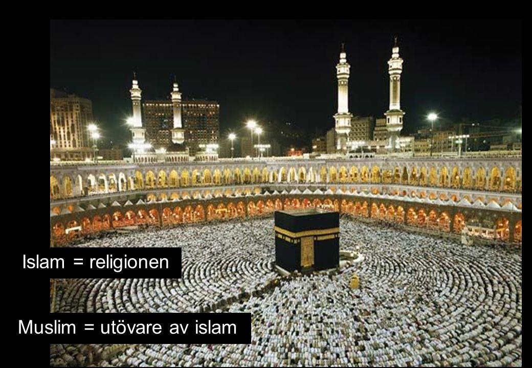 Islam = religionen Muslim = utövare av islam